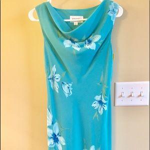 Studio I sleeveless long floral dress